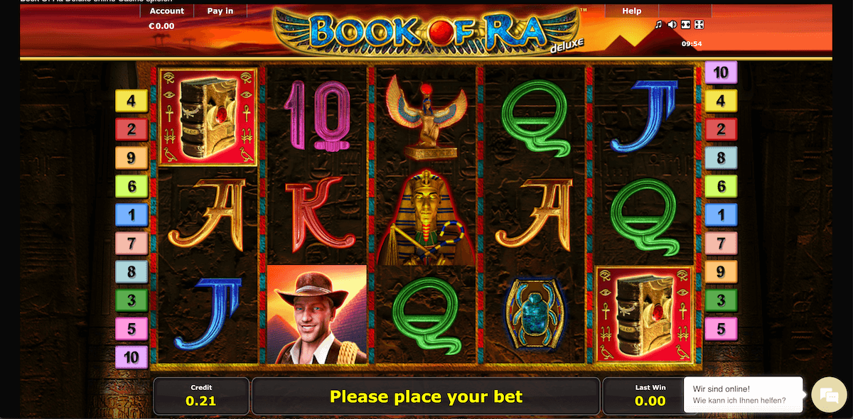 Book of Ra spielbar bei 4 Crowns